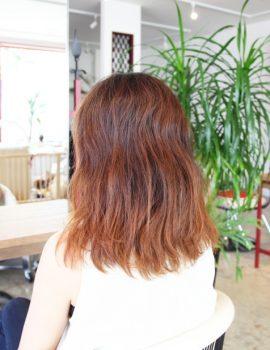 髪質改善ミディアムスタイル