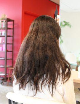 髪質改善ロングレイヤースタイル